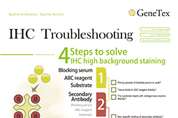 Download the latest version of GeneTex's IHC troubleshooting guide flyer.