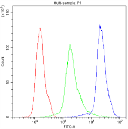 Anti-NLRP3 antibody used in Flow cytometry (FACS). GTX00763