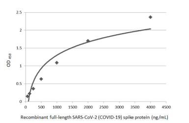 Anti-SARS-CoV-2 (COVID-19) Spike antibody used in ELISA (ELISA). GTX135356