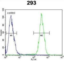 Anti-CLPX antibody used in Flow cytometry (FACS). GTX53477