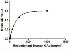 Human Galectin 9 protein, His and GST tag (active). GTX00111-pro